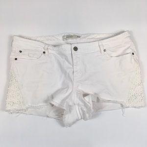 Torrid White Crochet Shorts Womens Plus 20